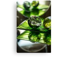Green Bubble - Macro Photography Canvas Print