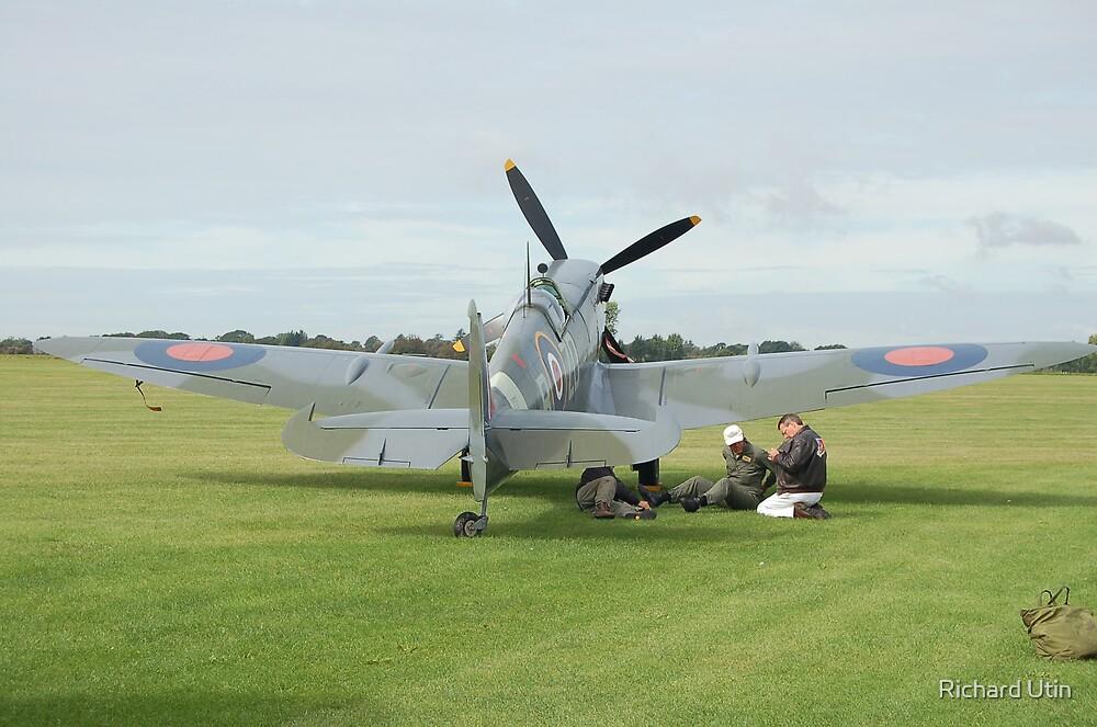 Spitfire at ten o'clock! by Richard Utin