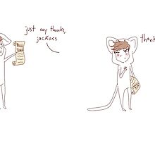 """thanks, jackass"" weird cats by wade-ebooks"
