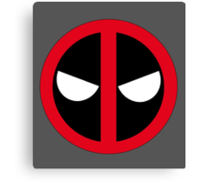 Angry Deadpool Icon  Canvas Print
