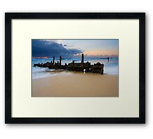 Fishing with History Framed Print