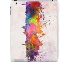 Florence skyline in watercolor background iPad Case/Skin