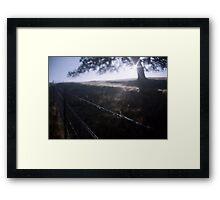 Silver Rain Framed Print