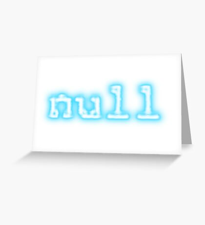 null Greeting Card