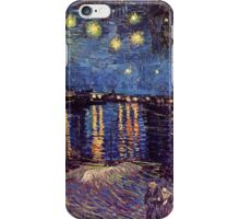 Starry Night over the Rhone, Vincent van Gogh iPhone Case/Skin