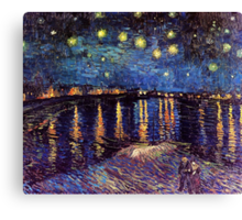 Starry Night over the Rhone, Vincent van Gogh Canvas Print