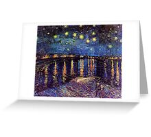 Starry Night over the Rhone, Vincent van Gogh Greeting Card