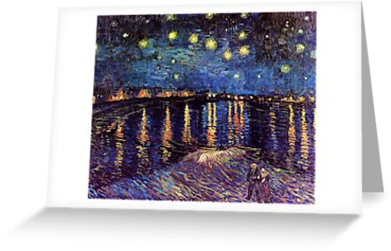 Starry Night over the Rhone, Vincent van Gogh by naturematters