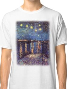 Starry Night over the Rhone, Vincent van Gogh Classic T-Shirt