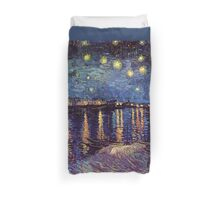 Starry Night over the Rhone, Vincent van Gogh Duvet Cover