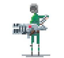 Green doomguy pixelart tribute by lrtvri