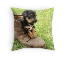 Too Small For Your Boots! Throw Pillow