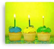Birthday Cupcakes Canvas Print