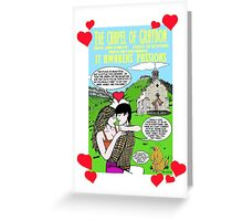 another drawing  about the Chapel of Graydon in France(english version) Greeting Card