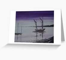Fishing Boats at Rest Greeting Card