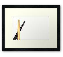 Chopsticks Framed Print