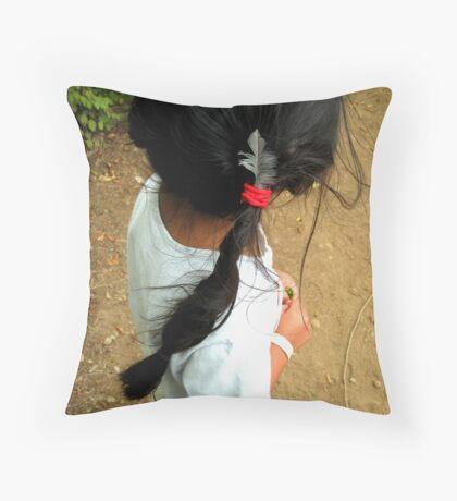 Jemma's Pigtail Throw Pillow