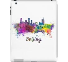 Beijing skyline in watercolor iPad Case/Skin