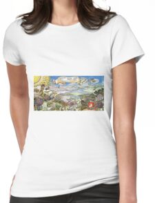 eat a peach Womens Fitted T-Shirt