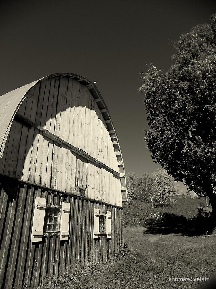 Barn B&W by Thomas Sielaff