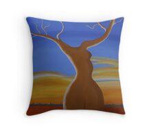 LADY BOABAB (OUTBACK AUSTRALIA) Throw Pillow
