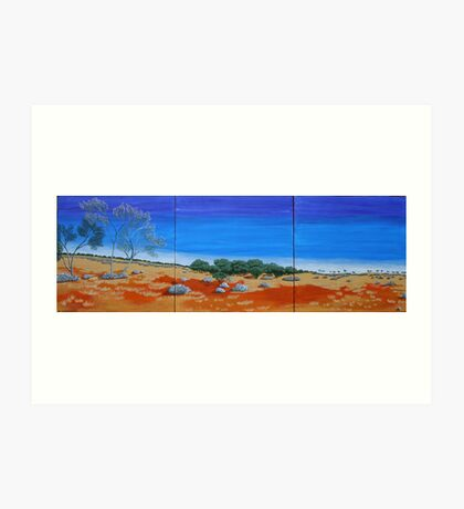 OUTBACK VISTA TRIPTYCH (AUSTRALIA) Art Print