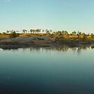 Sunrise over outback river by Jayson Gaskell
