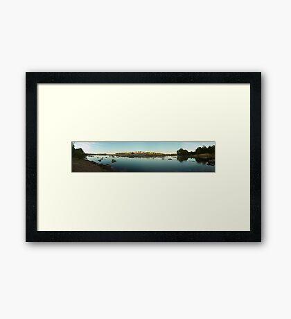 Sunrise over outback river Framed Print