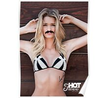 Movember Mustache Wood by Hot Fuzz Poster