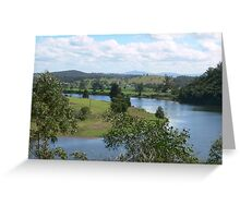 Manning River Taree N.S.W. Australia. Greeting Card