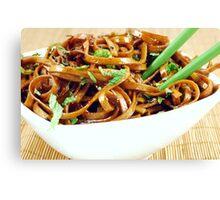 Stir Fried Udon Noodles Canvas Print