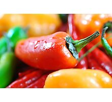 Hot Peppers Photographic Print