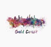 Gold Coast skyline in watercolor Kids Clothes