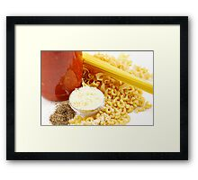 Pasta Ingredients Framed Print