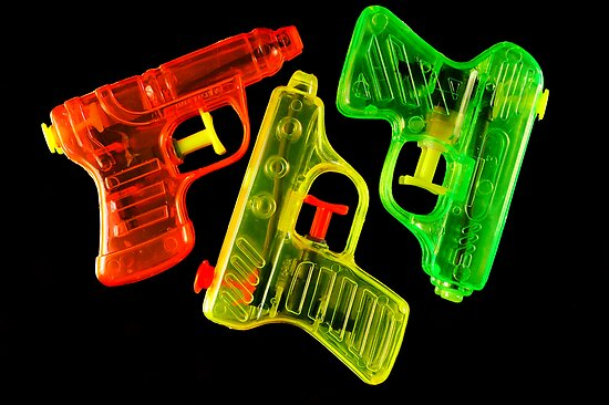 Squirt Guns by Karin  Hildebrand Lau