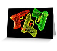 Squirt Guns Greeting Card