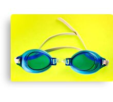 Blue Goggles Canvas Print