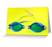 Blue Goggles Greeting Card