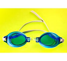 Blue Goggles Photographic Print