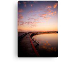 Sunrise by the Boardwalk Canvas Print