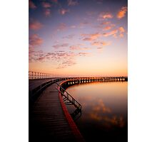 Sunrise by the Boardwalk Photographic Print