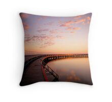 Sunrise by the Boardwalk Throw Pillow