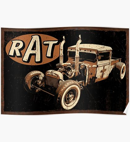 Rat Rod - Pipes Poster