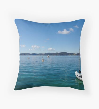 O God, thy sea is so great, and my boat is so small Throw Pillow