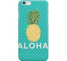 pineapple aloha iPhone Case/Skin