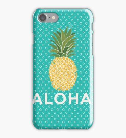 pineapple aloha iPhone Case/Skin