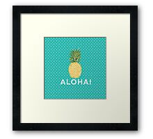 pineapple aloha Framed Print