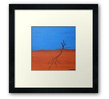 TREE SILHOUETTE (AUSTRALIAN OUTBACK) Framed Print
