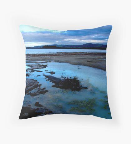 sunset blues Throw Pillow