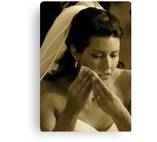 Bridal Tears Canvas Print